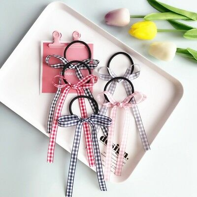 New Elastic Hair Ties Band Ropes Ring Scrunchie Ponytail Holder Bow-Knot Ribbon