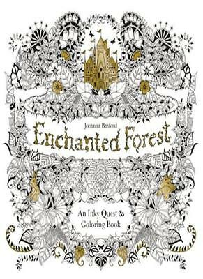 Enchanted Forest: An Inky Quest and Colouring Book-Johanna Basford