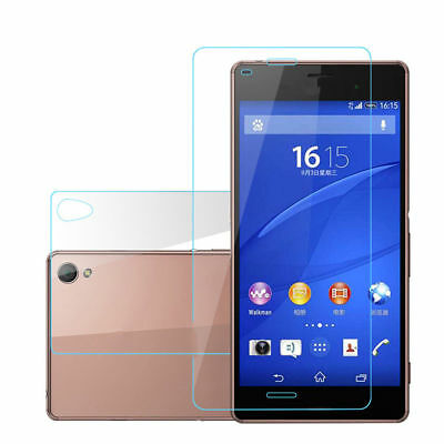 Front/Back Tempered Glass For Sony Xperia Z1 Z2 Z3 Z5 Compact Screen Protector