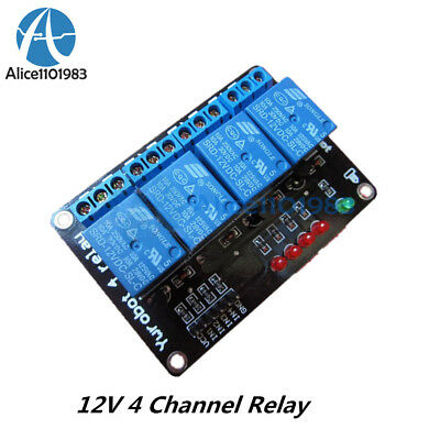 12V Four 4 Channel Relay Module For PIC AVR DSP ARM MSP430 For Arduino