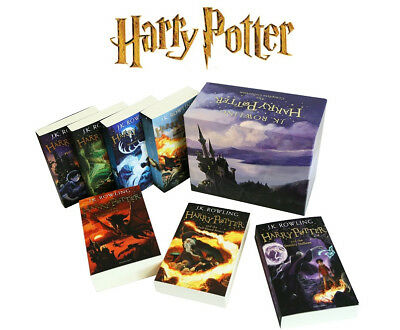 Harry Potter 7 Book Box Set J.K.Rowling Complete Collection Children's Paperback