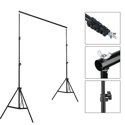 Muslin Photo Backdrop Support System Stand With Backdrop 2m Black