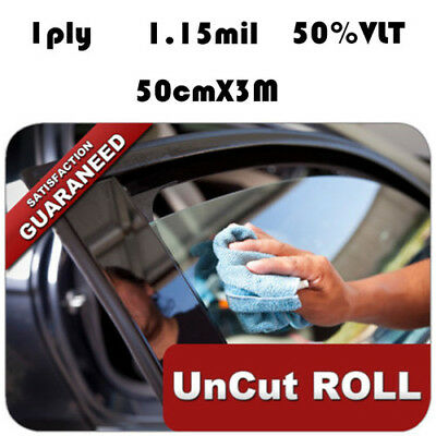 PET Black Home door Car Window Film Black 50% Auto Car House Roll 50cm*3M New