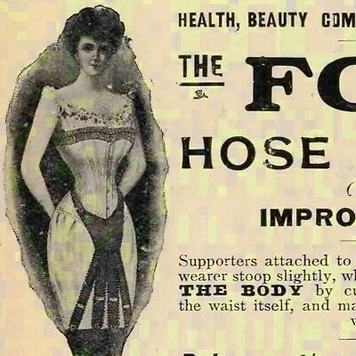 Original 1906 Hose Supporter Ad London England UK