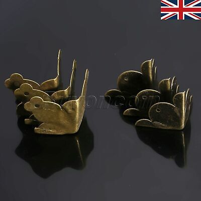 UK STOCK Vintage Brass Corner Protector for Jewelry Gift Wood Box Chests 12Pcs