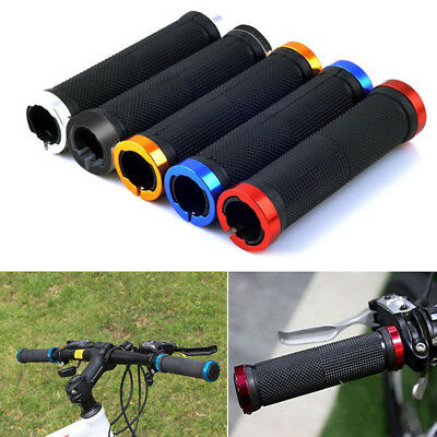2pcs Double Lock On Locking Mountain BMX Bike Bicycle Cycling Handle Bar Grips