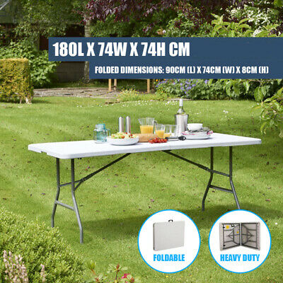 Foldable 6ft 1.8 meters Folding Catering Camping Trestle Picnic Bbq Party Table