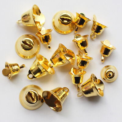 10PCS Small Christmas Craft Jingle Bell Dangle Charms With Loop Jewelry Gifts