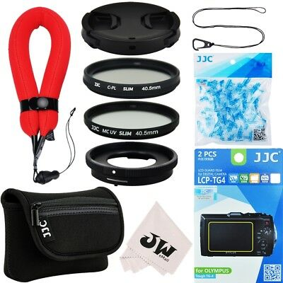 10in1 Kit Lens Adapter+Filter+Camera Pouch+Lens Cap for Olympus TG-5 TG-4 TG-3