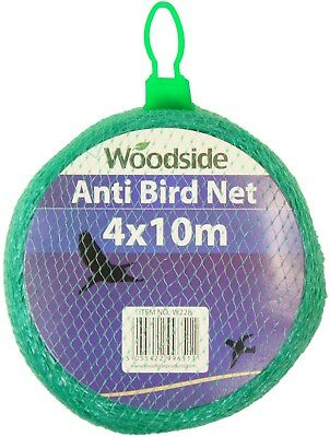 Woodside 4m x 10m Fine Mesh Anti Bird Netting Fruit/Crop/Plant Garden Protection