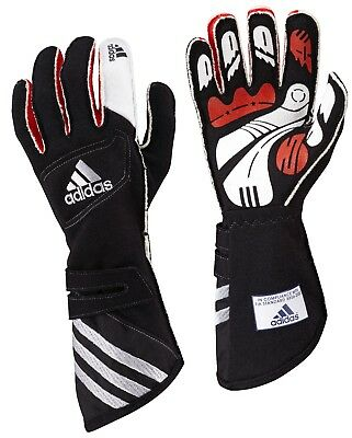 adidas adiStar FIA approved car racing glove Black/Silver