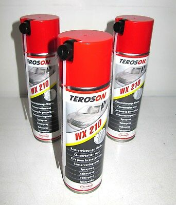 3x TEROSON Multi-Wax-Spray WX 210 -  Spraydose 500 ml