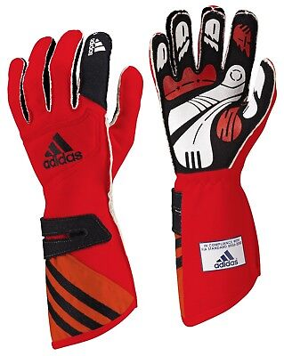 adidas adiStar FIA approved car racing glove Red/Black