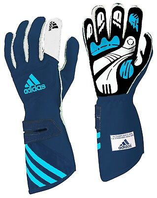adidas adiStar FIA approved car racing glove Blue/Cyan