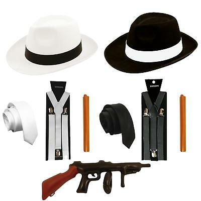 1920's Gangster Fancy Dress Al Capone Mafia Pimp Gatsby Costume Mens 30's