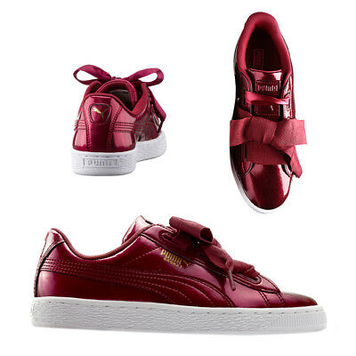 best authentic 0fe9a ff829 PUMA BASKET HEART Glam Womens Trainers Lace Up Tibetan Red 364917 02 U2
