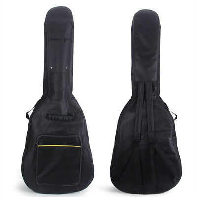 """Heavy Duty Thicken Soft Padded 40/41""""Electric Bass Acoustic Guitar Case Gig Bag"""