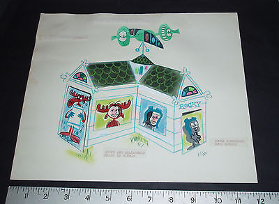 1960's Rocky & Bullwinkle Concept Art - Kids Playhouse - Jay Ward