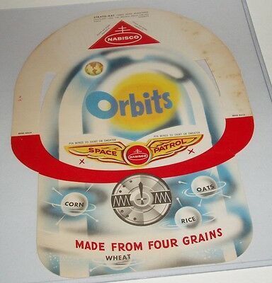 1950's Nabisco Orbits Cereal Box Premium Space helmet punchout