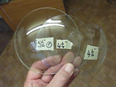3 Convex Clock Glasses (P)