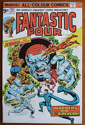 Fantastic Four #158..roy Thomas..rich Buckler..fn..1975 Pence Copy..bronze Age