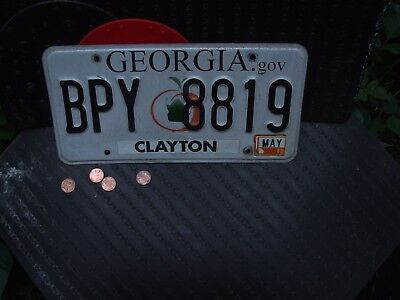 EXPIRED GEORGIA LICENSE PLATE with 2012 STICKER     (BPY 8819)