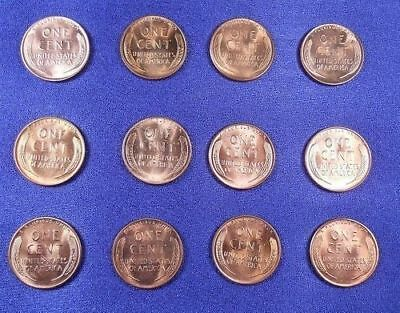1950 PDS - 1958 PD Lincoln Cent Penny Set 24 Coins BU Free Shipping