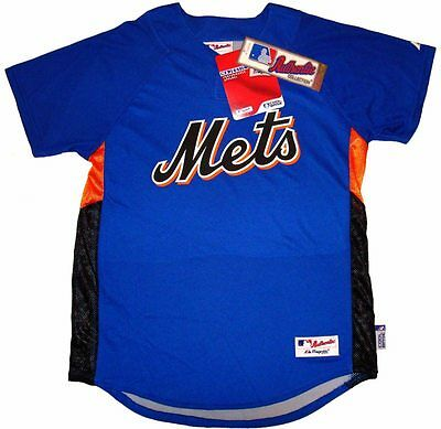 55a1962e2 New York Mets Majestic Authentic Cool Base Batting Practice Jersey Youth XL  NWT