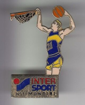 Rare Pins Pin's .. Sport Basket Ball Magasin Shop Intersport N°1 Mondial ~C7