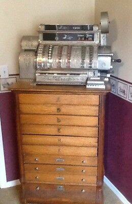 Antique National Cash Register, Model 592-6-F Working Condition
