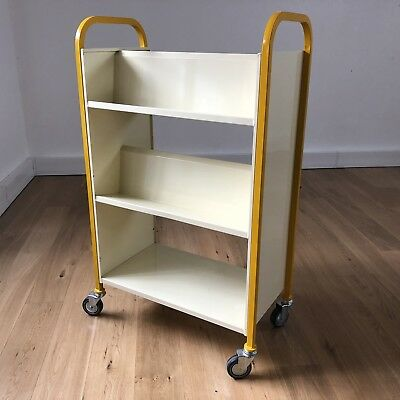 EZR 3-tier Library School Office Heavy Duty Steel Book Cart Shelf Trolley