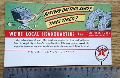 OLD TEXACO SERVICE post cards EARLY 1950'S clean crisp vivid colors #2