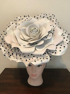 White Rose Fascinator, Formal, Church, Kentucky Derby, Cocktail, Wedding, Party
