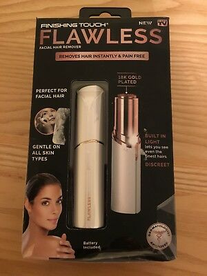 Finishing Touch Flawless Facial Hair Remover - Sliver & Gold