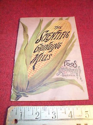 ANTIQUE 1880s FOOS Manufacturing Co.Catalog Springfield,Oh Grinding Mills Galor