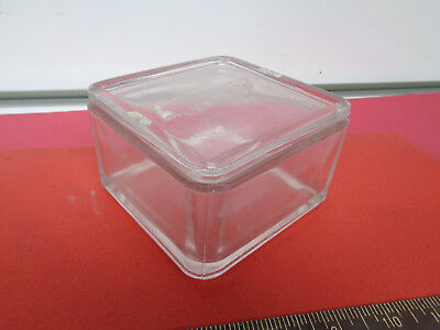 Lab square glass staining jar with lid 119mm x 119mm x 74mm LOTJAA9WE