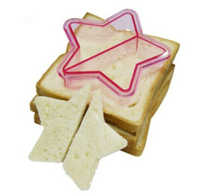 5 Shapes DIY Kids Sandwich Bread Crust Cutter Moulds Lunch Cooking Tool BS