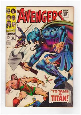 Avengers # 50  To Tame a Titan ! grade 7.5 scarce book !!