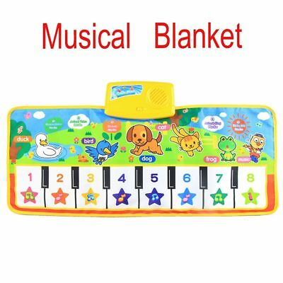Hot Children Baby Gift Funny Piano Carpet Music Blanket Singing Mat Touch Play
