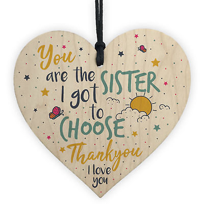 Best FRIEND Sister Gifts Wooden Heart Christmas Friendship Gift Birthday Plaque