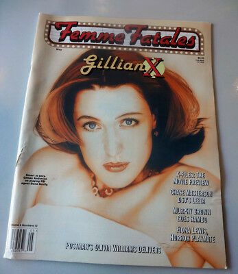 Femme Fatales Gillian Anderson X-Files Dana Scully Magazine More Photos Inside
