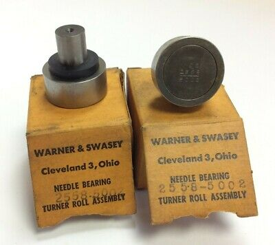 Lot of 2 Warner & Swasey 2558-5002 Cam Followers Needle Bearing Turner Roll Assy