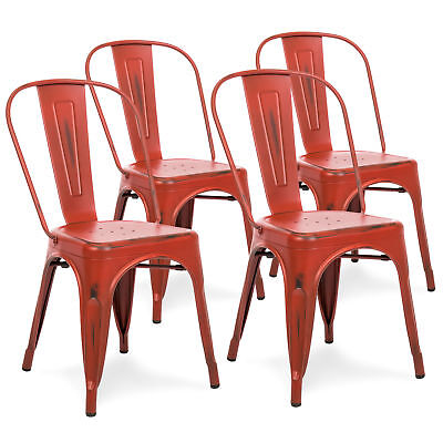 Bcp Set Of 4 Metal Dining Chairs