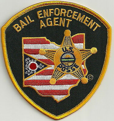 State Of Ohio Sheriff Bail Enforcement  Police Patch