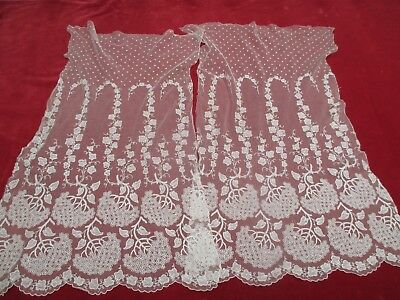 Antique Victorian Matching Lace Panels