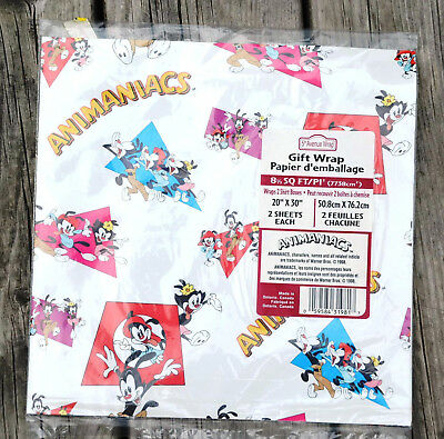 Sealed Package Vintage ANIMANIACS WRAPPING GIFT PAPER yAKKO wAKKO dOT wARNER
