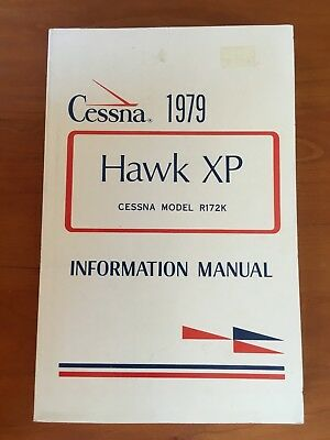 1979 Airplane Cessna R172K Hawk XP owner's information manual. 1 manual