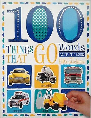 100 Things That Go Words Activity Book with Big Stickers