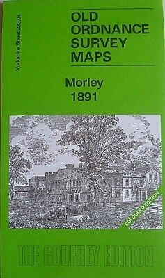 Old Ordnance Survey Maps Market Town Morley Yorkshire 1891 Godfrey Edition New