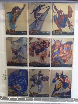 Marvel Comics Metal Gold Blaster Complete 18 Trading Card Set Chase Limited
